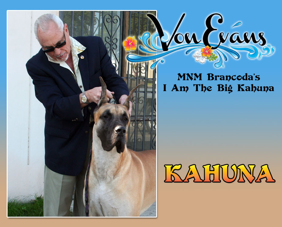 "December Feature – Von Evans MNM Brancoda's I Am The Big Kahuna – ""Kahuna"""