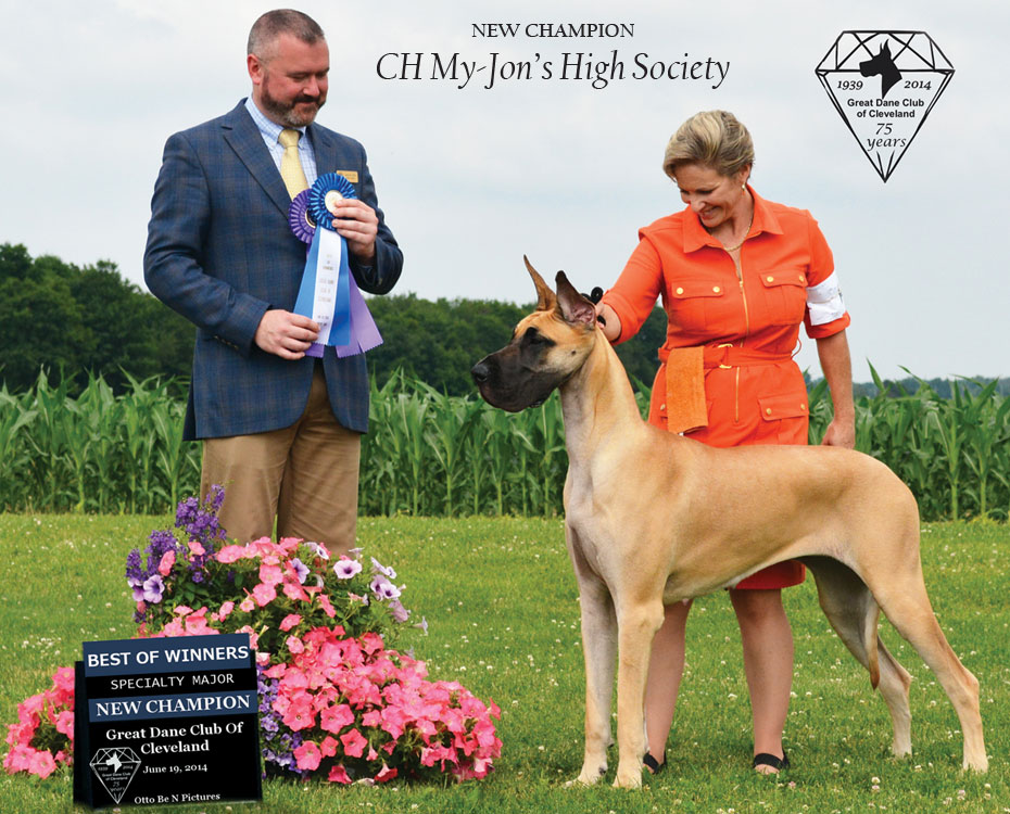 "July Feature – CH My-Jon's High Society ""Splash"""