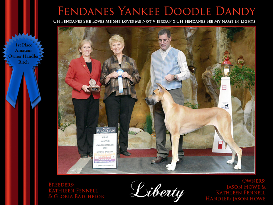 1st amateur owner handler bitch liberty