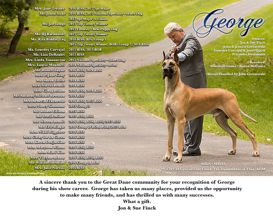 "October Feature – MBIS MBISS Gold GCH Gracyn Lost Creek The Descendant of Elan, AOM ""George"""