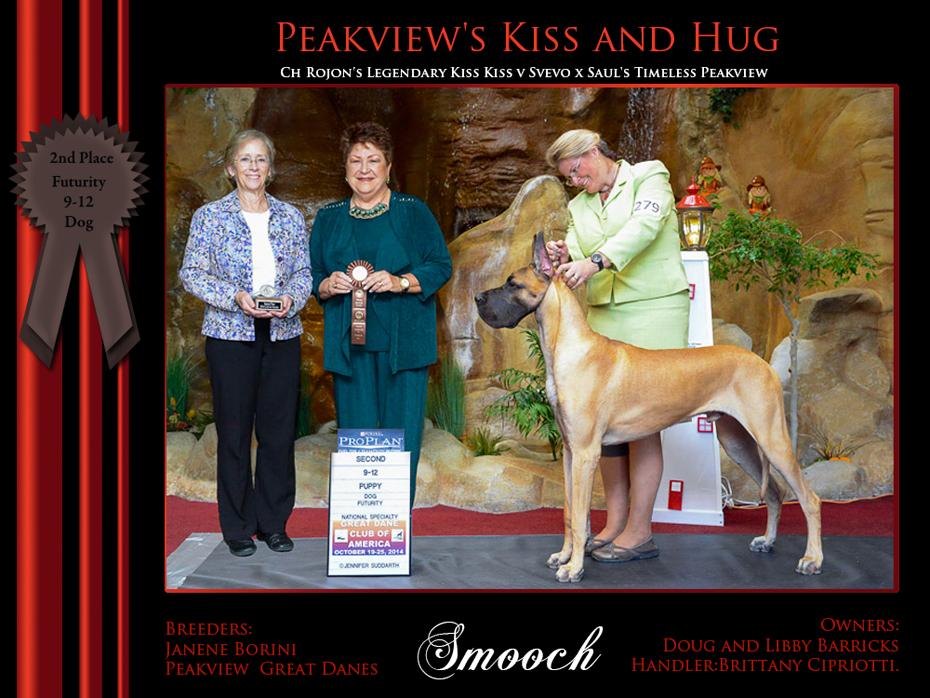2nd 9-12 Futurity dog smoooch