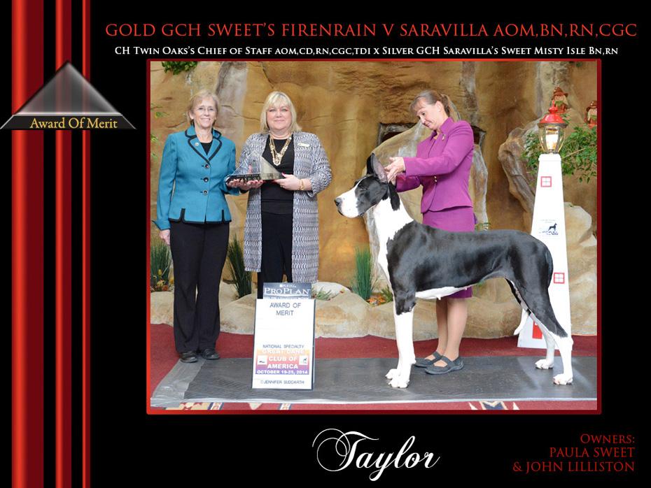 Award of merit taylor